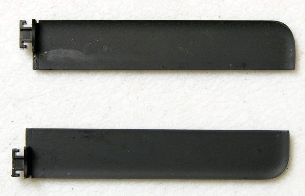 "GENUINE OEM APPLE MACBOOK 13.3"" BLACK LCD HINGE COVERS SET LEFT & RIGHT A1181"