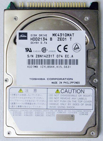 GENUINE OEM TOSHIBA LIBRETTO 50CT 70CT 100CT 110CT 4.3GB HD HARD DRIVE MK4310MAT