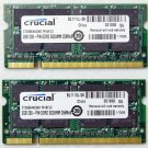DELL XPS M1210 M1710 4GB 2X2GB CRUCIAL RAM PC2-5300S CT25664AC667 200 PIN DDR2