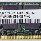 HP MINI 110 2GB NETWORK RAM PC2-6400S-666-12 HYMP125S64CP8-S6