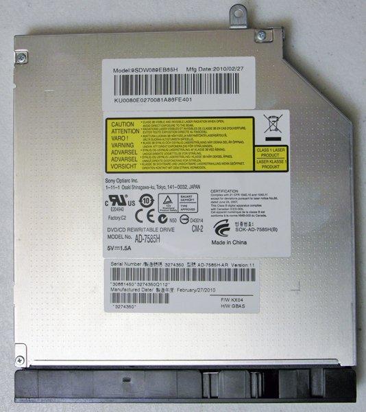 ACER ASPIRE 7736Z 7736 7736G 7736ZG SONY SATA DVD+RW CDRW DRIVE AD-7585H