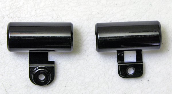 "OEM HP PAVILION DV9000 DV9500 DV9700 17"" BLACK LCD HINGE COVERS RIGHT & LEFT SET"