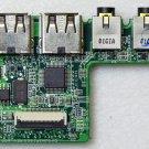 DELL INSPIRON 1564 1765 DUEL USB / AUDIO JACK SD CARD READER PORT DA0UM3PI8E0