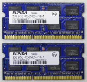 "OEM MAC APPLE MACBOOK PRO 13"" 15"" 17"" 4GB (2x2GB) RAM PC3-8500S EBJ21UE8BDS0"