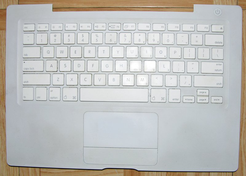 "OEM MAC WHITE MACBOOK 13.3"" KEYBOARD MOUSE / TOUCHPAD PALMREST ASSY 825-6764-A"