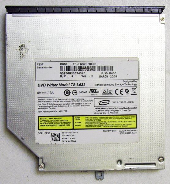 OEM DELL INSPIRON 1525 1526 DVD-/+RW DRIVE WRITER DRIVE TS-L632 PT068 / 0PT068