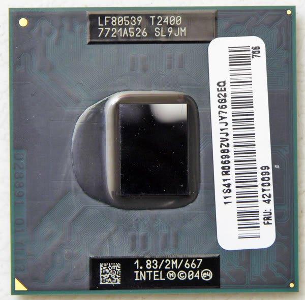 IBM THINKPAD T60 T61 INTEL CORE DUO T2400 LAPTOP CPU  1.83GHz SL9JM 42T0099