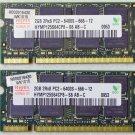 TOSHIBA SATELLITE U505 4GB (2X2GB) RAM MEMORY PC2-6400S HYMP125S64CP8 H000016430