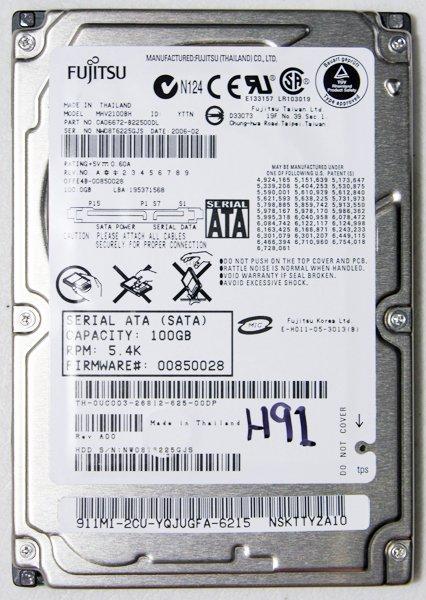 DELL XPS M1710 FIJITSU 100GB 5400RPM SATA HD HARD DRIVE MHV2100BH