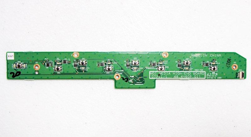 GATEWAY P SERIES P-6800FX P-6831FX P-6301 P-17 MEDIA BUTTON BOARD 48.4V605.011