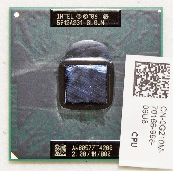 DELL INSPIRON 1545 INTEL DUAL CORE T4200 2.00GHz CPU SLGJN 800MHz 0G210M / G210M