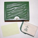 GENUINE ORIGINAL ROLEX WATCH BOX GREEN w/ CLEANING CLOTH AND COVER