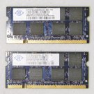 "OEM MAC APPLE MACBOOK / PRO 13"" 15"" 17"" 2GB (2x1GB) RAM PC3-5300S NT1GT64U8HB0BN"