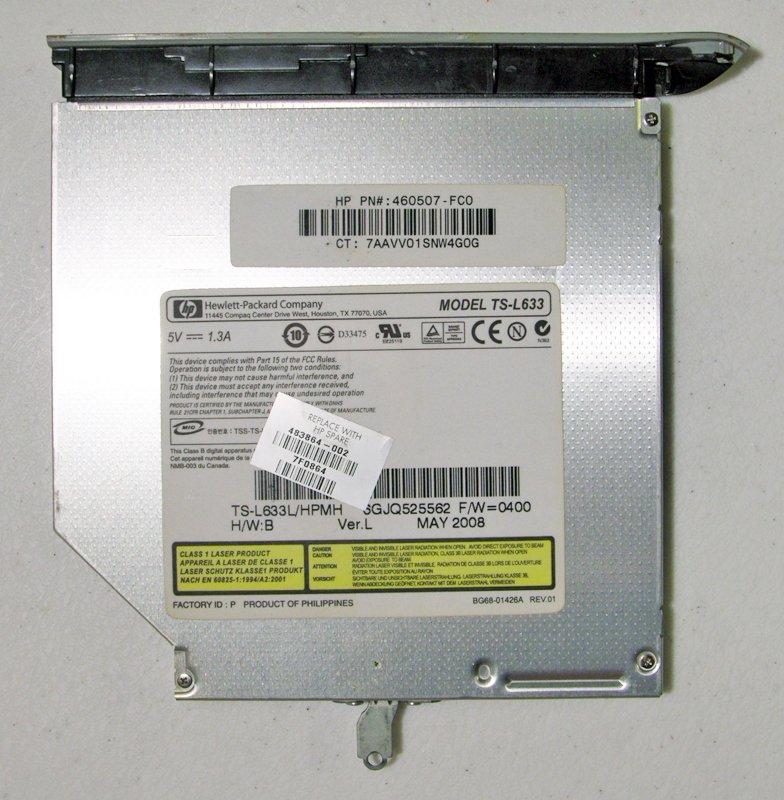 OEM HP PAVILION DV5 DVD-/+RW SATA DRIVE w/ LIGHTSCRIBE 460507 483864 TS-L633
