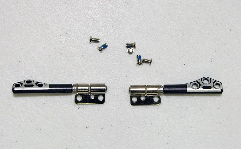 "GENUINE OEM APPLE MACBOOK PRO 13"" A1278 (2013) LCD HINGES LEFT & RIGHT w/ SCREWS"