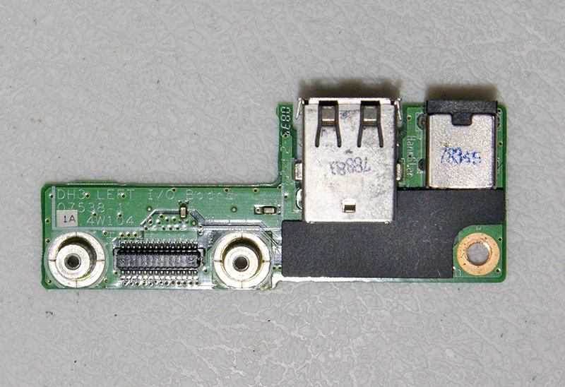 GENUINE OEM DELL XPS M1530 USB / DC JACK LEFT I/O BAORD 48.4W104.011