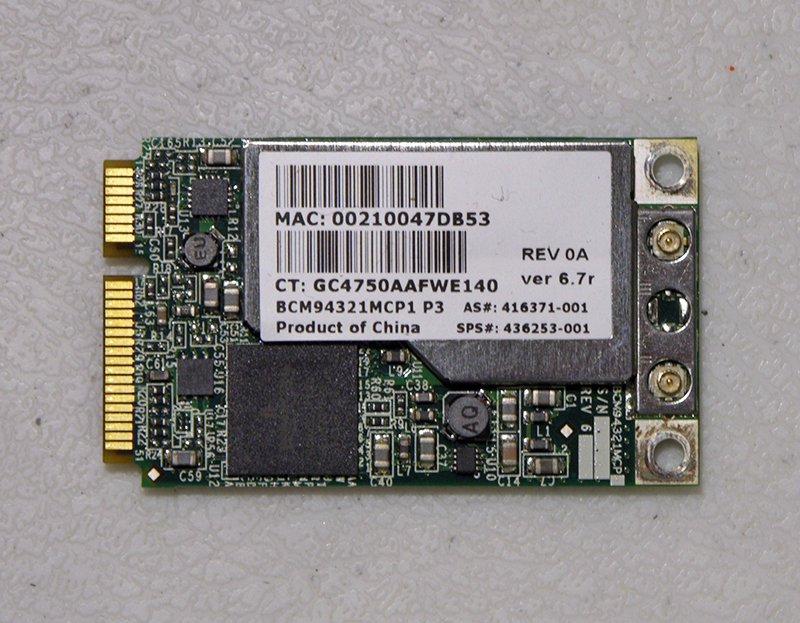 GENUINE OEM HP PAVILION TX2000 TX2500 SERIES PCI WIFI WIRELESS CARD 453730-001