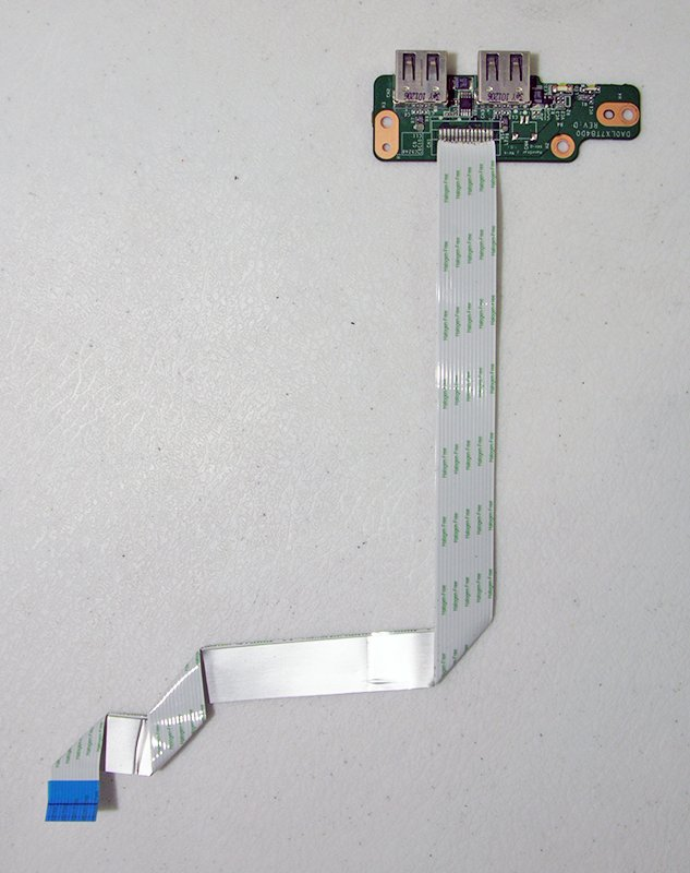 OEM HP PAVILION DV7-4000 DUEL USB PORT w/ CABLE  DA0LX7TB4D0 36LX7UB0000