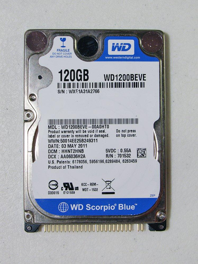 "Western Digital 2.5"" IDE/ATA 120 GB 5400 RPM Laptop Hard Drive WD1200BEVE-00A0HT0"
