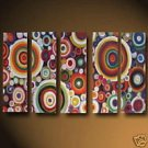 Mosaic Spirals incorporating the colours of the Rainbow(Oil Painting on Canvas 22241924803)