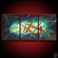 Modern Abstract Art Oil Painting On CanvasAquaria like(22241181690)