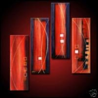 Subtley Red Abstract Oil Painting (22241047587)