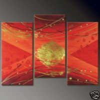 Abstract Red and Gold Oil Painting on Canvas  (22240909779)