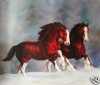 Horses Running Free Oil Painting on Canvas High Spirited (22232580631)