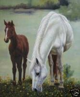Horses Grazing Oil Painting on Canvas  (22232306300)