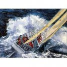 Tempestuous Seas Oil Painting on Canvas Crew Crashing Waves(g66079563ttps)