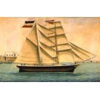 Sailing Ship Oil Painting on Canvas  Majestic Seafarer Captain (g66112489ttps)