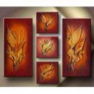 Modern Abstract Art in Gold Oil Painting on Canvas Decor (g66108146ttps)