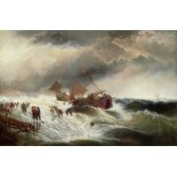 Sea's Fury Oil Painting on Canvas Stormy Sea's Wrath (g66113714ttps)