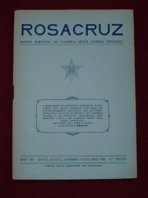 ROSICRUCIAN RARE PUBLICATION MAX HEINDEL PORTUGAL 1965