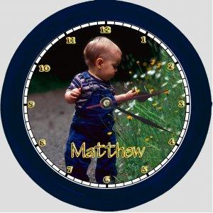 Personalized Photo Wall Clock - kids, babies, wedding