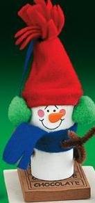 Marshmallow Snowman Ornament