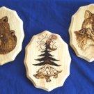 "Native American Artwork 3 Oneida Clans Wildlife 8.5x11"""