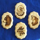 Native American Indian Artwork Woodburning 3 Clans