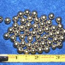 """50 Nickle Beads 5/16"""" dia Round Hollow Solid metal"""