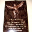 "Native Home Blessing Wall Plaque 6x8"" New repro"