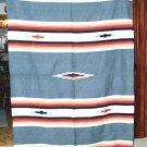 Mexican Blanket Throw Southwest  5'x7' Gray New