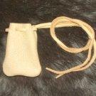 "Medicine Bag Top grain Deerskin 2x2"" w 32"" cord Replica"