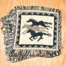 "Coasters Set of 6 Jacquard Cotton  6x6"" Running Horses"