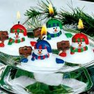 Candles Set of 12 Adorable Melting Snowman