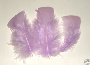 "35 Feathers 3-5"" ORCHID Marabou Fluff flat tip 1/4 oz"