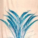 "50 Peacock Sword Feathers Bleached & Dyed TURQUOISE BLUE 20-25"" L"