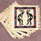 Coasters Set of 6 Dancing Kokopelli Southwest theme #1
