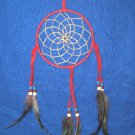 "Dreamcatcher 5"" Authentic Native American Navajo Dark Red #704"