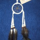 "Dreamcatcher Native American Indian Navajo 2"" hoop WHITE #431"