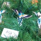 3 Hummingbird Christmas Ornaments Hand Beaded Fair Trade #53